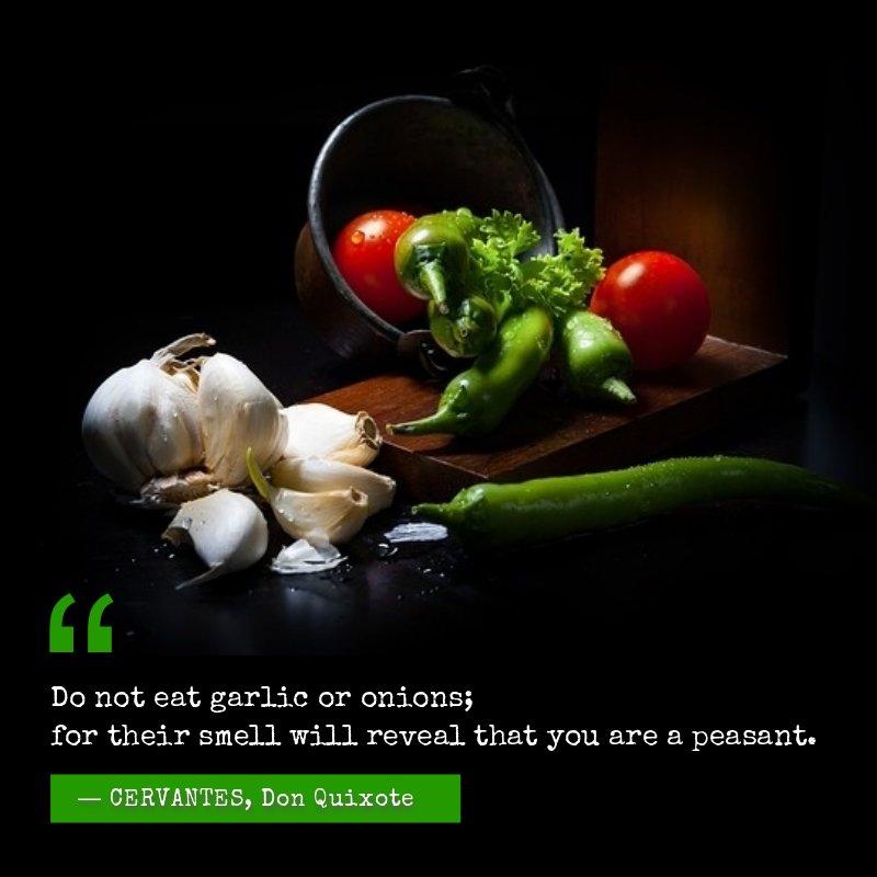 Cervantes - about garlic smell
